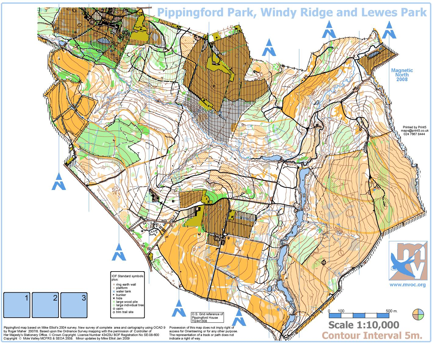 Pippingford park regional level 2 event january 18th 2009 view map jpg biocorpaavc